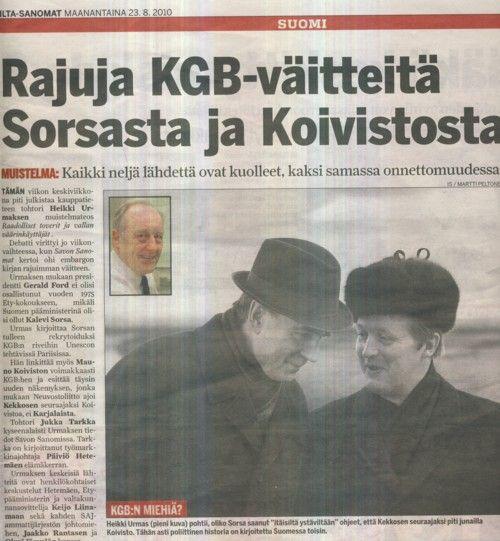 Koivisto kiistää väitteen KGB:n roolista inkeriläisten paluumuutossa