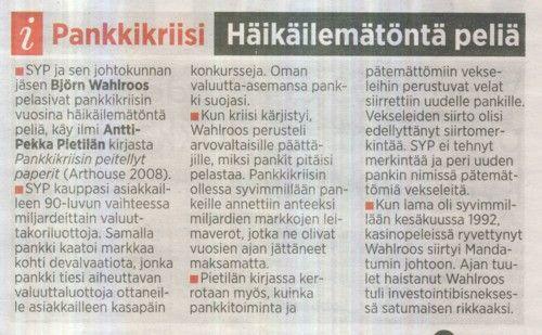 """Wahlroos: """"EU sanelee typeryyksiä Suomelle"""""""