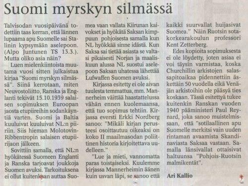 Suomi Myrskyn Silmässä