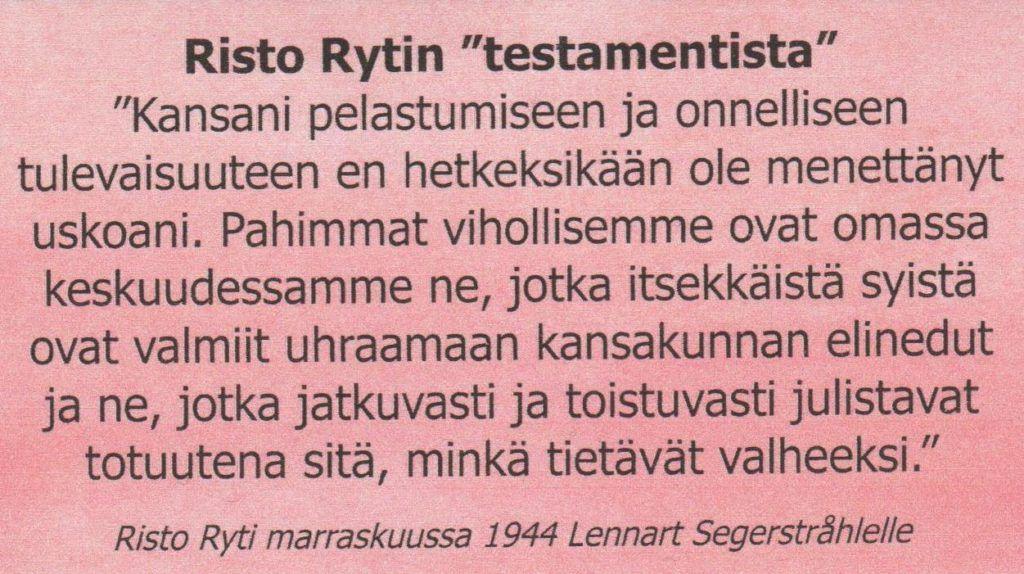 Prof. Heikki Ylikangas tunnustanut…