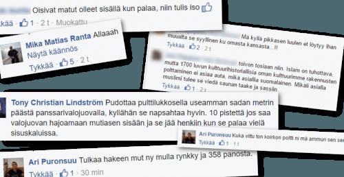 Kotimaista intoa facebookissa…