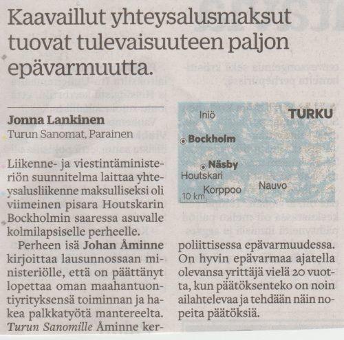 SOS-hallitus tyhjentää Turun saaristoa