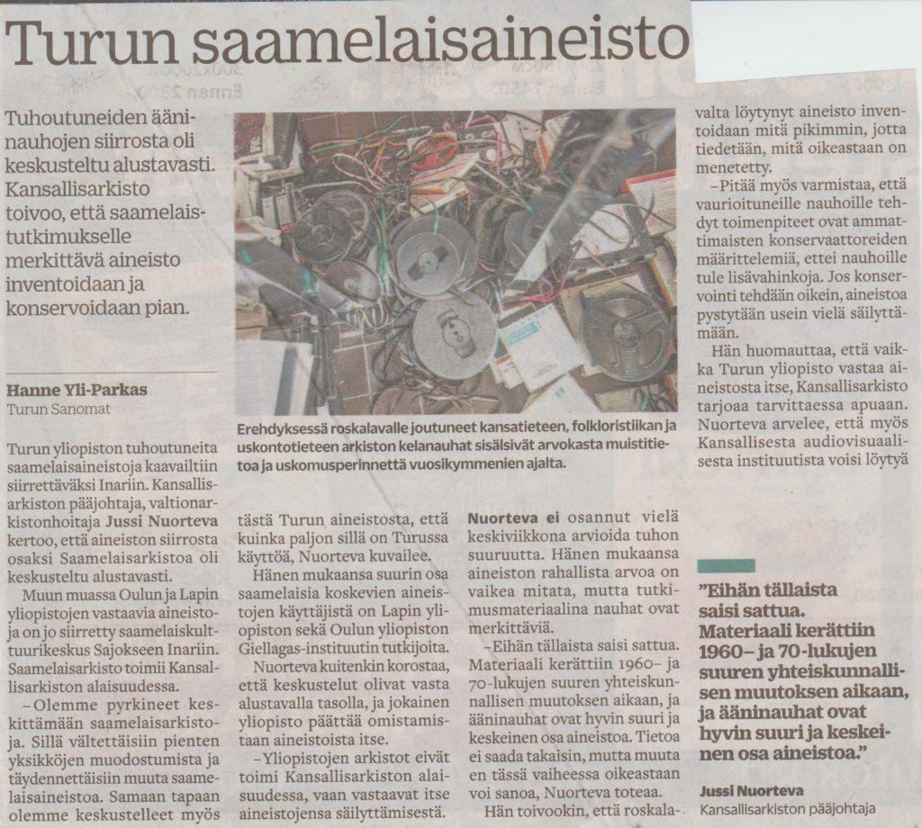 Kansallista identiteettiä tuhoutuu Turun yliopistossa
