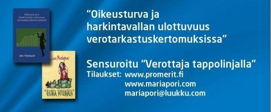 Liisa Mariapori. Yrittäjien oikeusturva verotarkastus-kertomuksissa